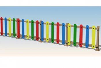 Vallado multicolor de polietileno vallas parques for Vallas infantiles plastico